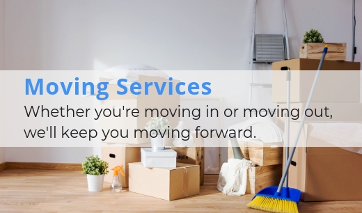 Learn more about our home moving cleans