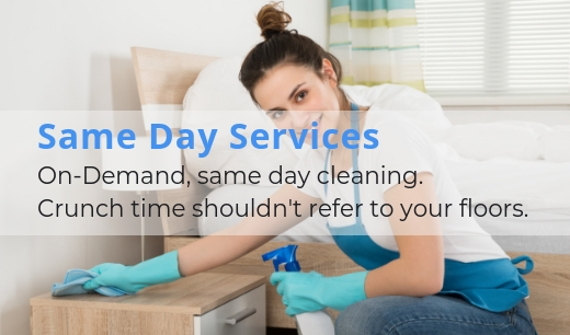 Same day, On-Demand cleaning services